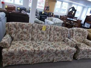 Sofa and chair. Good condition. $299 for both.
