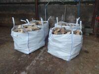 Firewood - Seasoned Hardwood Logs for Sale in Builders Bags