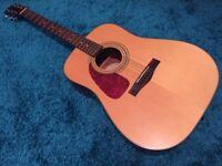 Fender DG-14S Left-Handed Acoustic Guitar with Hard Case