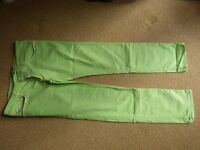 Used (once or twice) Calvin Klein Jeans in apple green 36w x33l