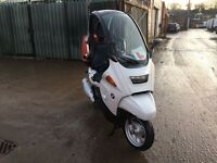Bmw C1 125cc moped/scooter full MOT White petrol