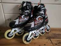 Mens trainer style roller blades skates adjustable size 6 to 8.5 UK new Christmas