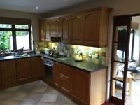 Complete oak kitchen with appliances would suit holiday home, buy to let or student property.