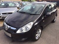 2009/58 VAUXHALL CORSA 1.2 16V DESIGN,5 DOOR,BLACK,3 OWNERS,LOW RUNNING COSTS,LOOKS AND DRIVES WELL