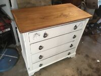 Refurbished chest of drawers shabby chic vintage style