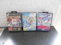 3 MEGADRIVE GAMES- 3 GREAT SEGA MEGADRIVE OLYMPIC GAMES