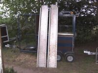 PAIR OF 8FT ALLOY/STEEL TRAILER RAMPS NICE CONDITION..