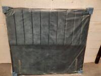 NEW 5FT Kingsize Teal Fabric freestanding headboard RRP £349