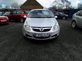 59 plate VAUXHALL CORSA 1.2 LIFE EDITION 5DR IN SILVER 106K