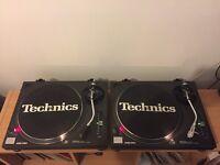 Pair Technics 1210 mk2 decks. Excellent working order.