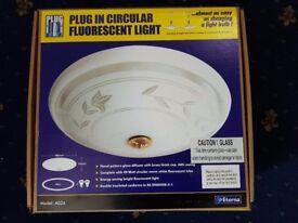 Plug in circular fluorescent light - brand new in box!