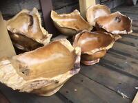 Teak root bowls £40.00 each lots of choice