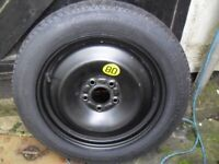 New Ford focus Spacesaver wheel and tyre