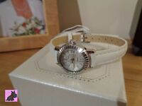 Casio SHE-4036L-7AUDR Swarovski Elements Ladies 'Sheen' White Strap RRP: £85 - 'Clearance Sale'