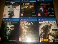 Ps4 games for sale. Ask for prices