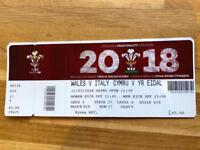 3 x Wales v Italy Six Nations Tickets (Sunday 11th March)