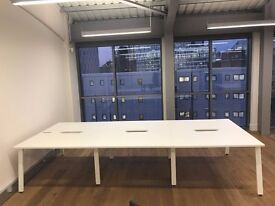 Office Desks almost BRAND NEW!! 2 x 6 person