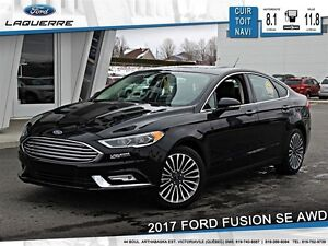 2017 Ford Fusion **SE*AWD*CUIR*TOIT*NAV*CAMERA*CRUISE*A/C 2 ZONE