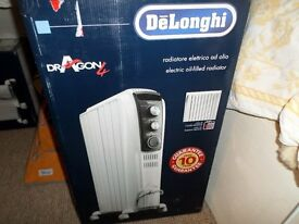 DeLonghi Dragon 4 Oil Filled Radiator with Timer New in Box