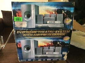 LENOXX SOUND DVD HOME THEATER SYSTEM WITH AM/FM RECEIVER NEW