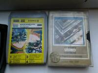 Job lot of vintage 8 track tapes including the beatles and others untested loft find