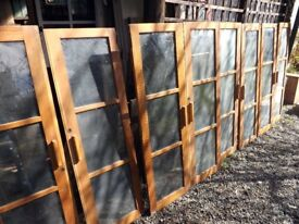 4 pairs of matching glazed cupboard doors