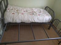 Single bed frame with guest bed