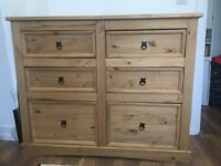 Chest of 6 Drawers / Dresser, Good Condition