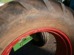 14 - 34, 16.9 - 34  GOODYEAR TRACTOR TYRE AND TUBE ON RIM Shepparton Shepparton City Preview