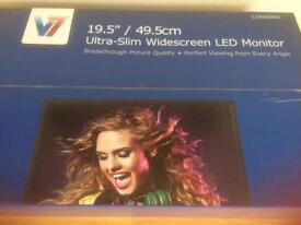 BNIB V7 Ultra Slim Widescreen LED monitor
