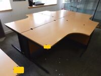 CORNER DESKS WITH KICK BOARDS