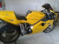 DUCATI 748e MONOPOSTO 2000/W reg ONLY 6500 MILES IMMACULATE CONDITION