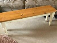 Wooden pine bench