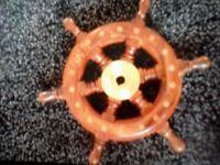 Boat nautical captains steering wheel new unused solid wood+brass