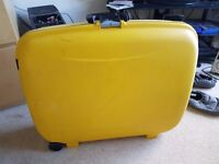 Suitcase. Big. Yellow. What more could you want?