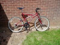 "MOUNTAIN BIKE, 21"" FRAME, 26"" ALLOY WHEELS, FULLY SERVICED."