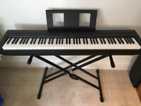 Yamaha P-45B digital piano (with stand, pedal, and midi cable)