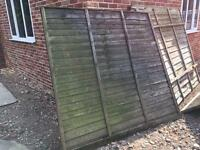 10 Used fence panels