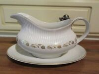 ROYAL DAULTON GRAVY BOAT AND SAUCER