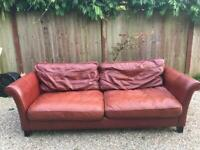 DFS leather 4seater sofa