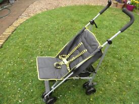 Childs Folding Push Chair C/W Canopy & Rain Cover