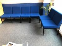 Six Blue Reception Chairs