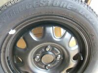 Bridgestone tyre B371 165/60R14 75T + Unused spare tyre + rim from a suzuki wagon R boot