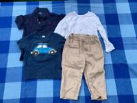 Bundle of 18-24 months boys clothes Polo Ralph and Trousers baby