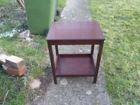 small oak vintage wooden table with shelf underneath