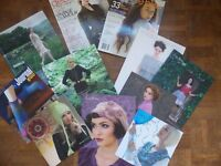 11 Knitting Magazines and Pattern Books. Modern. Louisa Harding, Regia, Debbie Bliss Job Lot