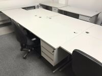 Job lot of 13 office desks. QUICK SALE. Collection only