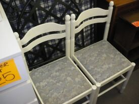 2 WHITE DINING CHAIRS