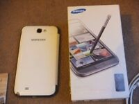 ( With box ) White Samsung Note 2 - N7105, 2 batteries, induction charging ready, NFC , unlocked, 4G