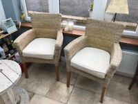 Sunroom / conservatory furniture set: sofa and two single chairs